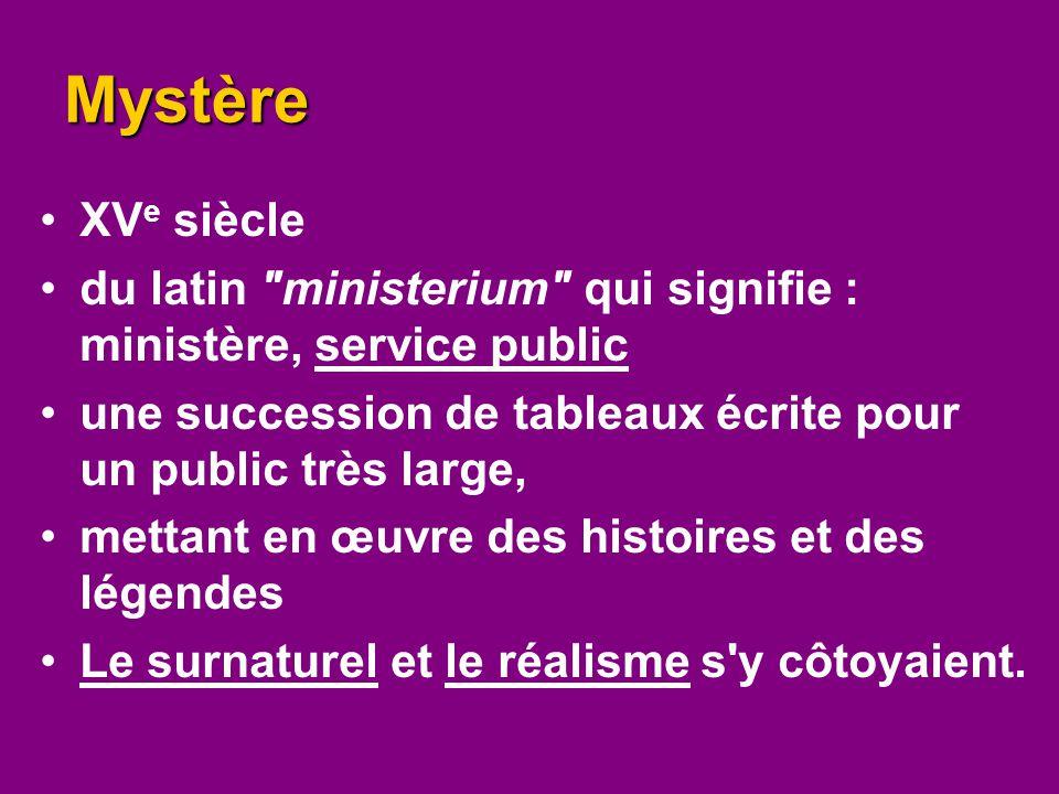 Mystère XV e siècle du latin