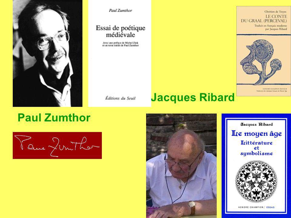 Paul Zumthor Jacques Ribard