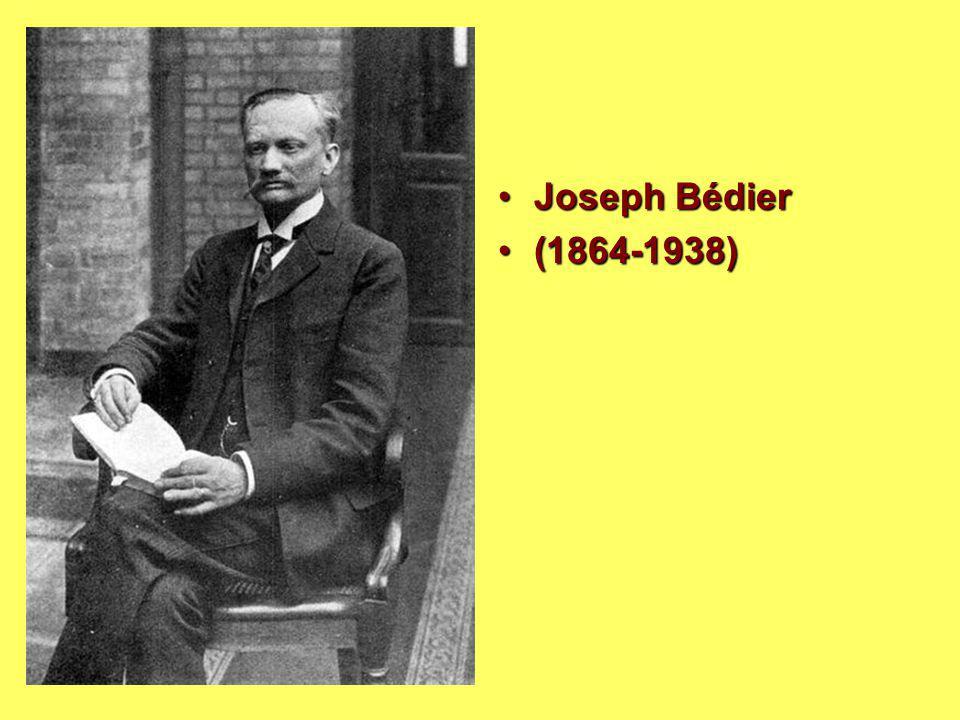 Joseph BédierJoseph Bédier (1864-1938)(1864-1938)
