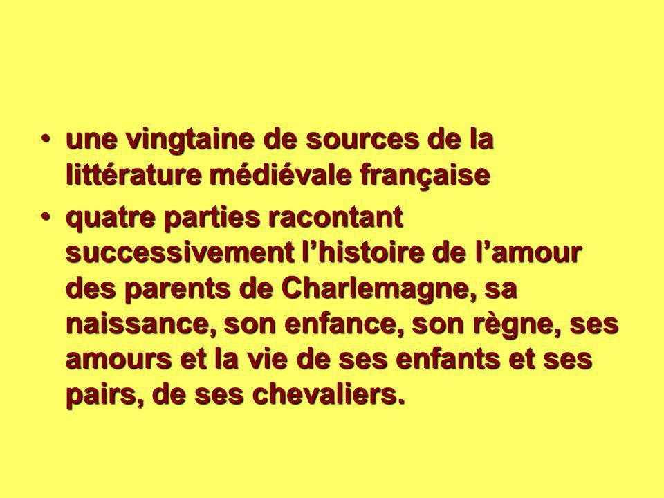 une vingtaine de sources de la littérature médiévale françaiseune vingtaine de sources de la littérature médiévale française quatre parties racontant