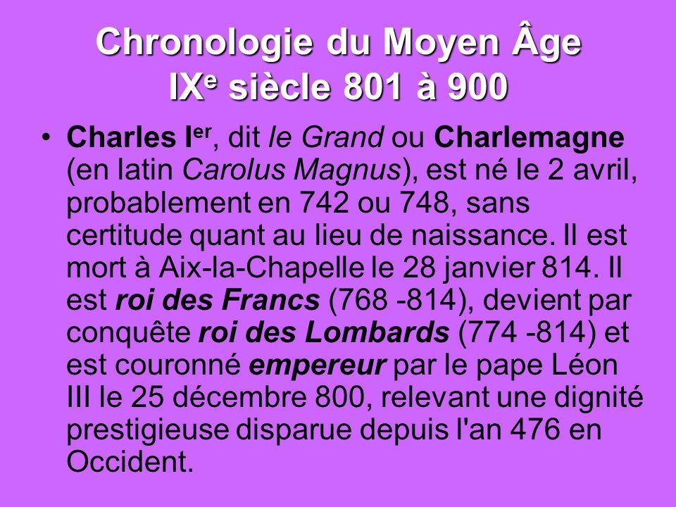 L'expression du « Moyen âge » (XVII e s.)  L'expression du « Moyen âge » (XVII e s.)  Le romantisme  l'importance du IX e siècle  la littérature latine  des copies → la « mouvance » du texte