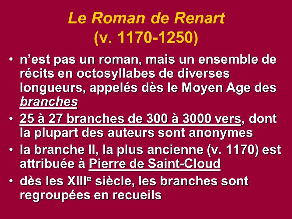 Le Roman de Renart (v.