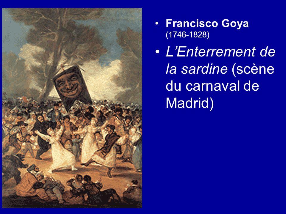 Francisco Goya (1746-1828) L'Enterrement de la sardine (scène du carnaval de Madrid)