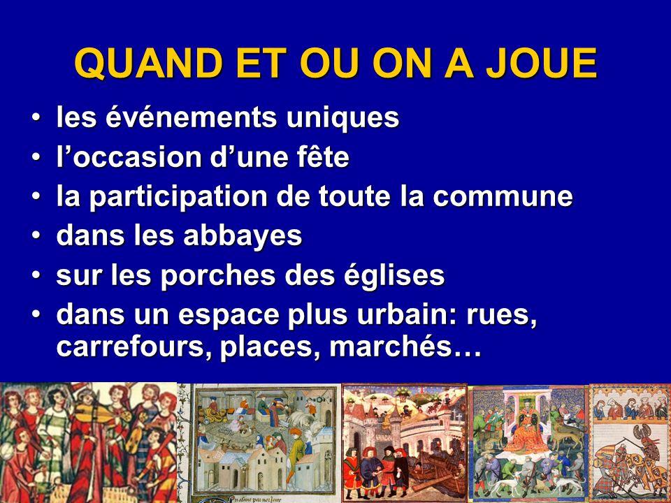 La Condamnation de Banquet La moralité la plus connue Nicole de La Chesnay composée probablement avant 1500, et transmise par une édition imprimée de 1507 3644 vers, avec 38 personnages