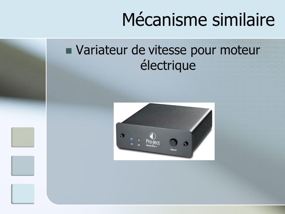 Mécanisme similaire Variateur de vitesse pour moteur électrique