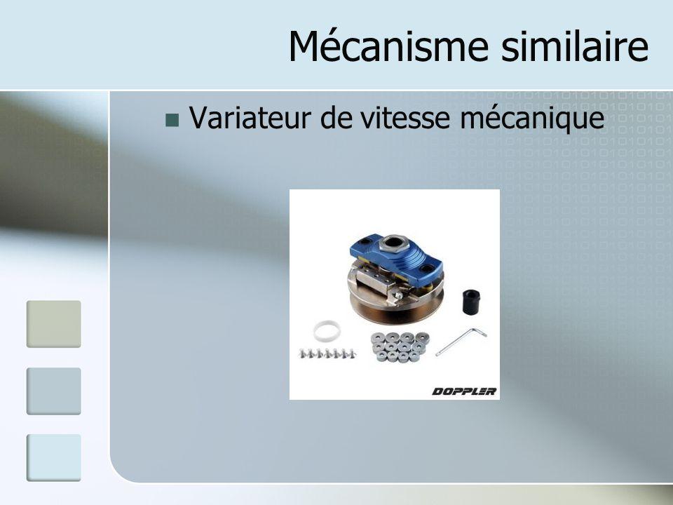 Mécanisme similaire Variateur de vitesse mécanique