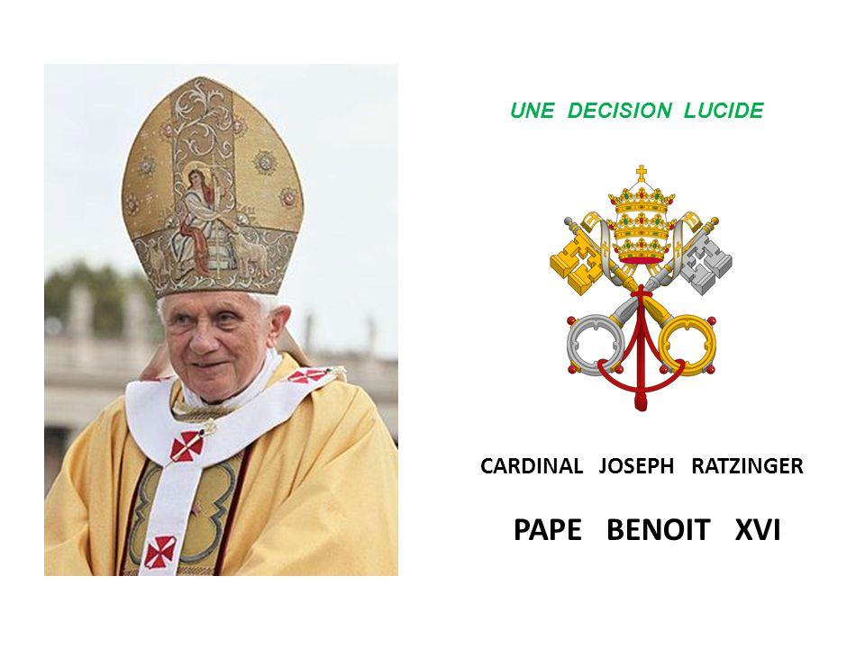 V A T I C A N LE 11 FEVRIER 2013 LE PAPE BENOIT XVI ANNONCE SA RENONCIATION ( POUR RAISON DE SANTE ) QUI DEVRAIT PRENDRE EFFET LE 28 FEVRIER 2013 UN E