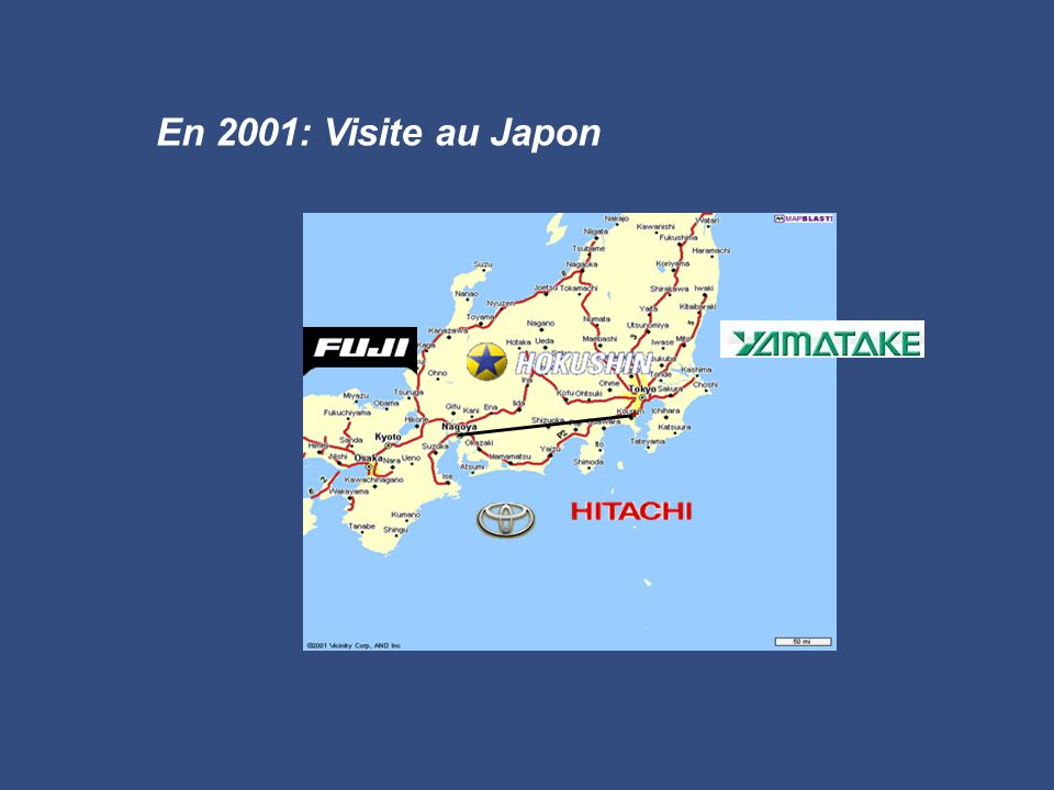 En 2001: Visite au Japon