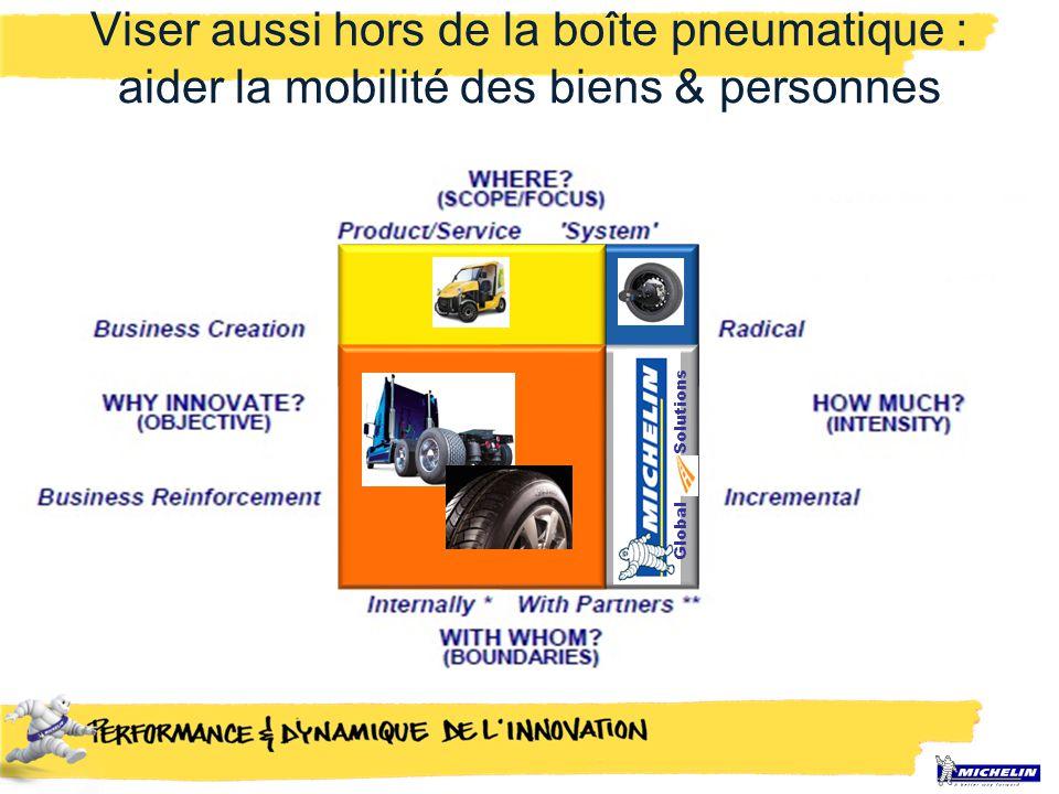 SolutionsGlobal Viser aussi hors de la boîte pneumatique : aider la mobilité des biens & personnes
