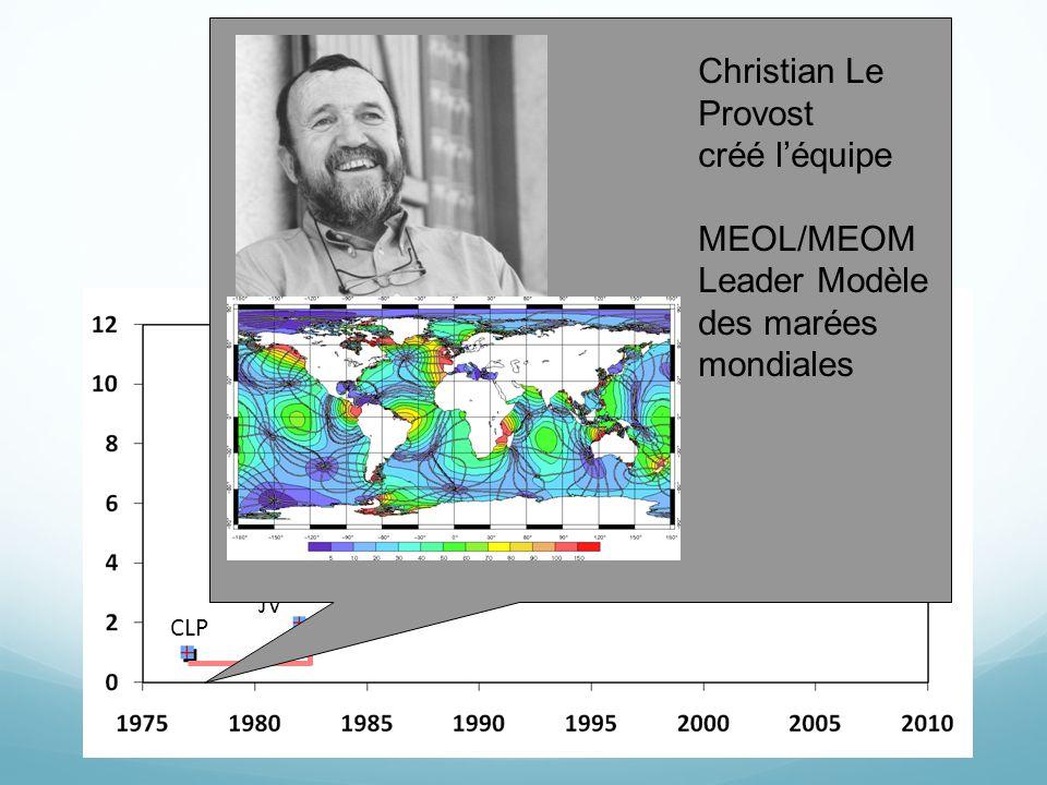 CLP JV BB JMM, JB PB CLP JMB, TP AW, EC JLS Christian Le Provost créé l'équipe MEOL/MEOM Leader Modèle des marées mondiales