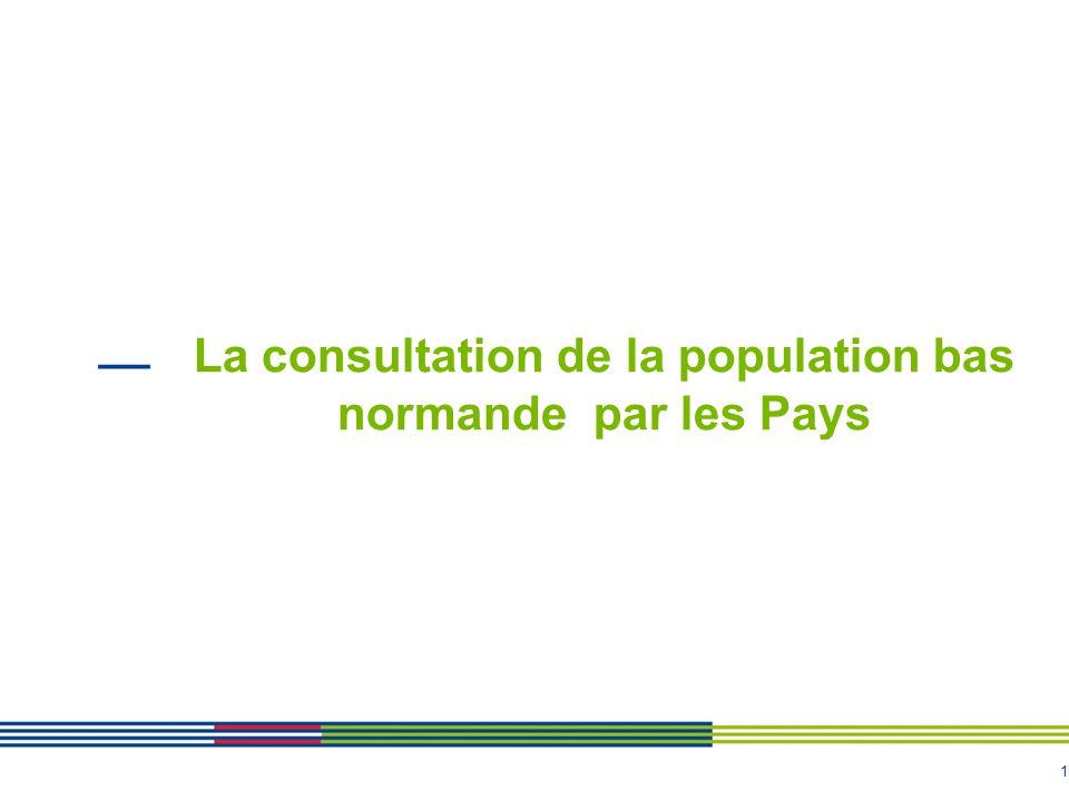 1 La consultation de la population bas normande par les Pays