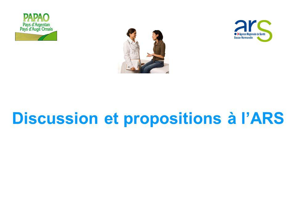 Discussion et propositions à l'ARS