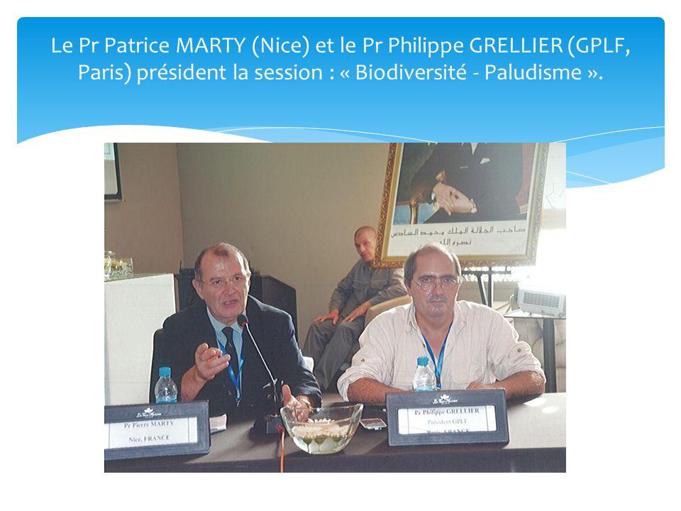 Le Pr Patrice MARTY (Nice) et le Pr Philippe GRELLIER (GPLF, Paris) président la session : « Biodiversité - Paludisme ».