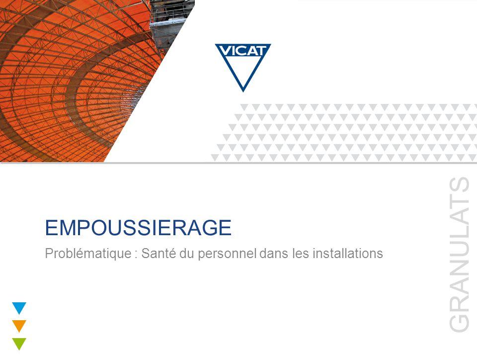 2 GRANULATS Notre objectif Diminution de l'empoussièrement d'une ancienne installation en intégrant des nouvelles conceptions Sur le site de Carbonne proche de Toulouse l'installation a été modifiée pour limiter les émissions de poussières des équipements.