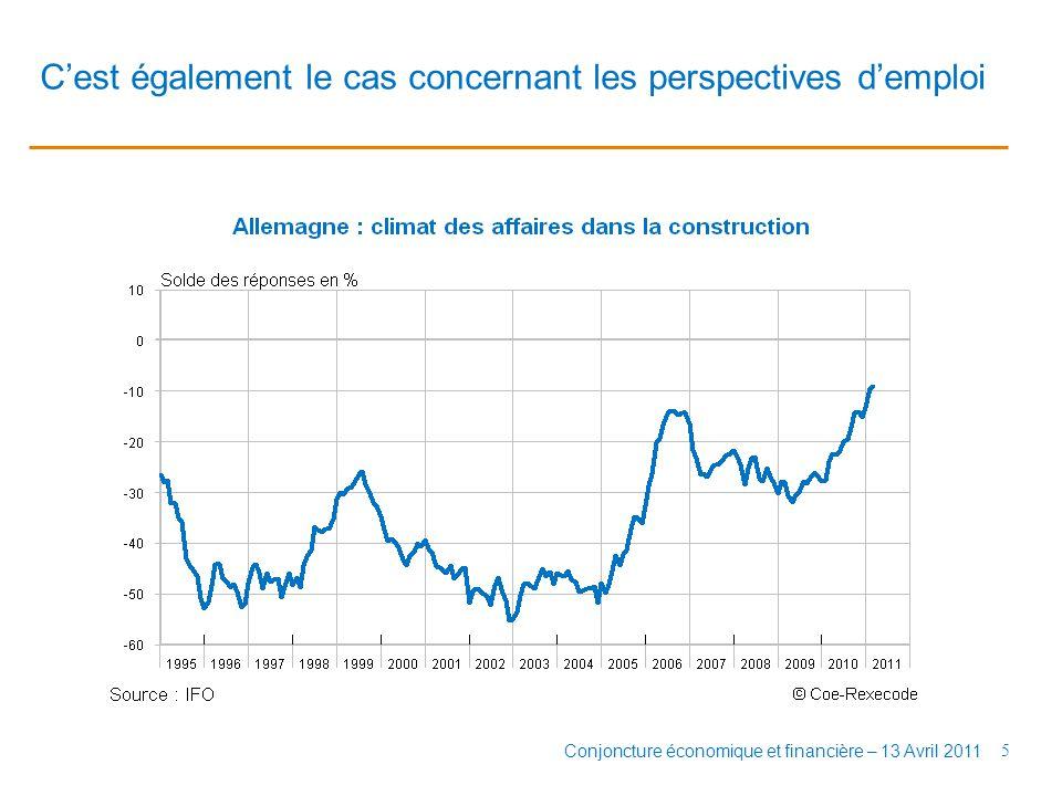 A court terme, le dynamisme de l'investissement productif soutiendrait l'activité non résidentielle 6 Conjoncture économique et financière – 13 Avril 2011
