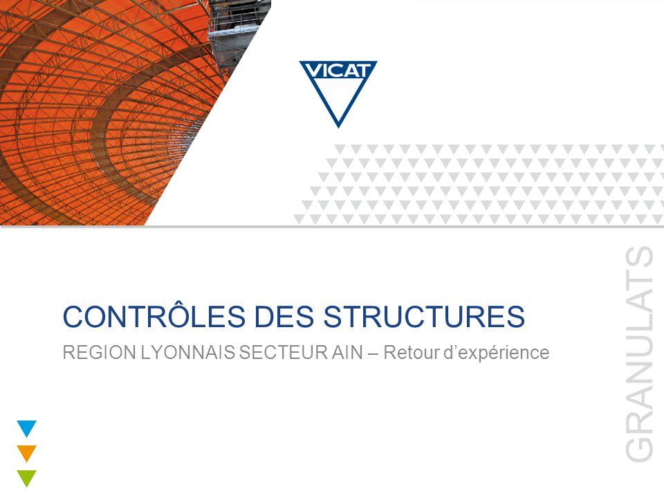 GRANULATS CONTRÔLES DES STRUCTURES REGION LYONNAIS SECTEUR AIN – Retour d'expérience
