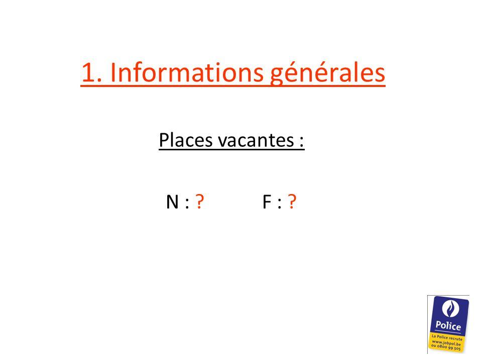 1. Informations générales Places vacantes : N : F :