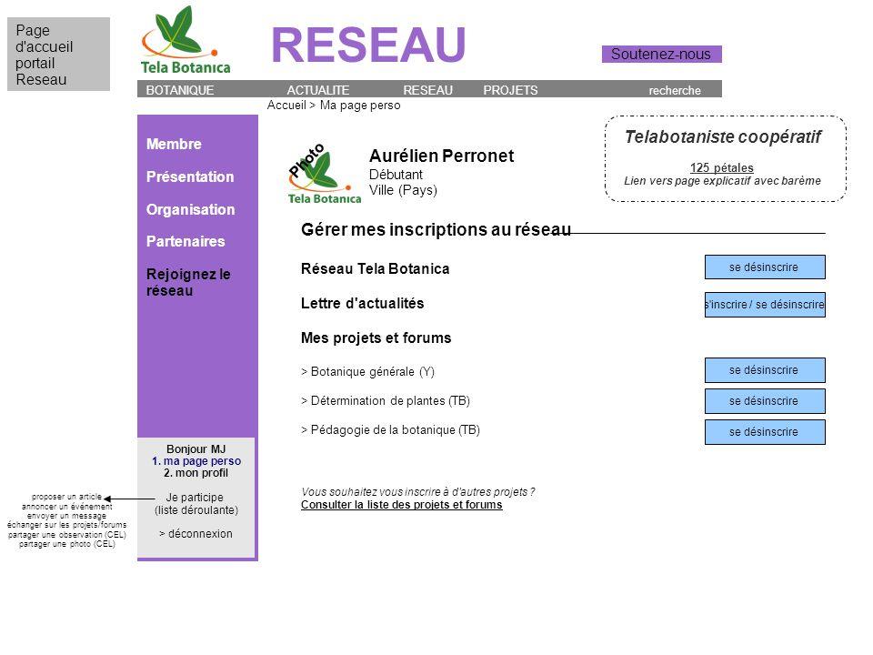 BOTANIQUE ACTUALITE RESEAU PROJETS recherche RESEAU Page d'accueil portail Reseau Soutenez-nous Accueil > Ma page perso Aurélien Perronet Débutant Vil