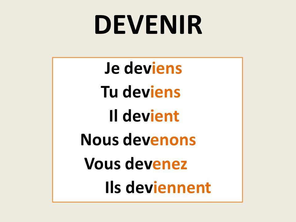 substantif Devenir + adjectif