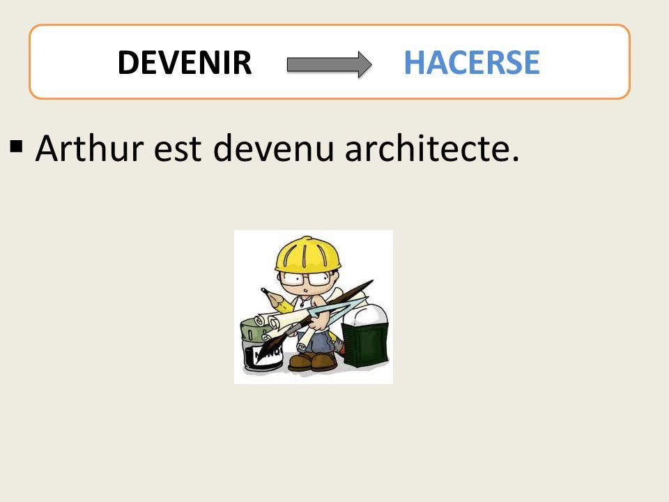  Arthur est devenu architecte. DEVENIR HACERSE