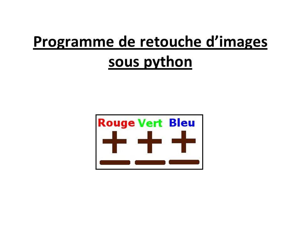 Programme de retouche d'images sous python