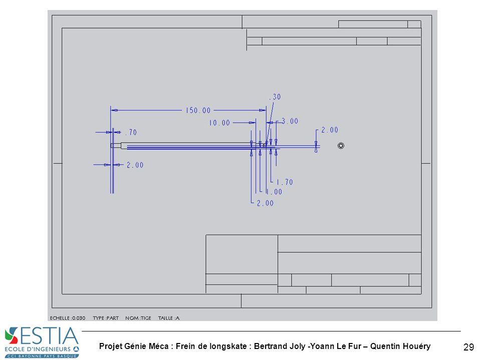Projet Génie Méca : Frein de longskate : Bertrand Joly -Yoann Le Fur – Quentin Houéry 30