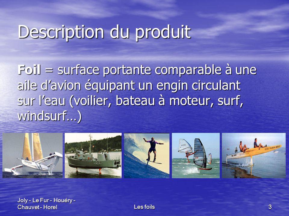 Joly - Le Fur - Houéry - Chauvet - HorelLes foils3 Description du produit Foil = surface portante comparable à une aile d'avion équipant un engin circ