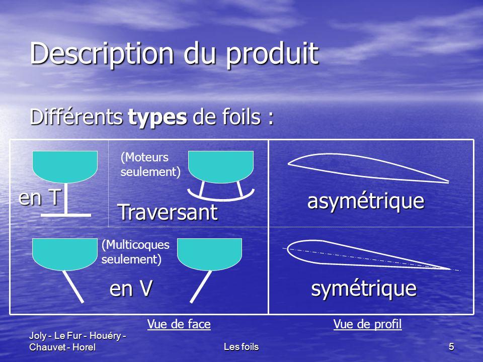 Joly - Le Fur - Houéry - Chauvet - HorelLes foils6 Comportement Les foils sont bombés et légèrement inclinés par rapport à la direction d'écoulement de l'eau.