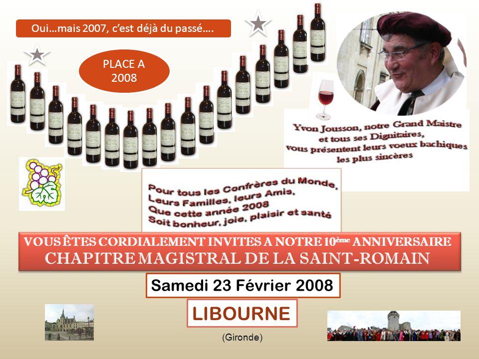 Gilbert Mitterrand, Maire de Libourne, remet à notre Grand Maistre, les clés de sa ville… Départ du Défilé LIBOURNE MAGNIFIQUE BASTIDE Après la Confré