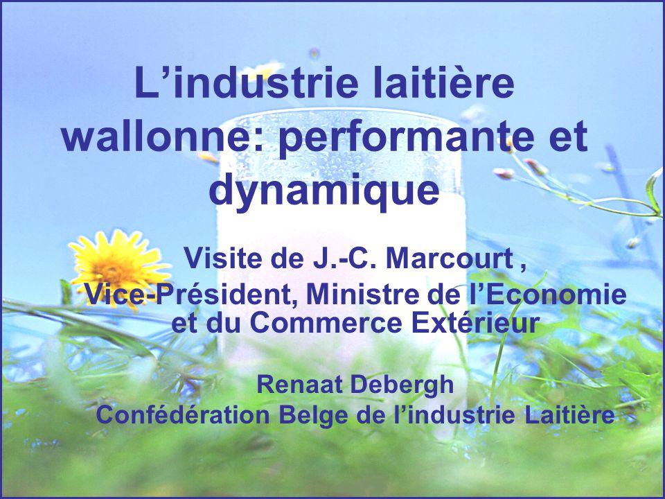 L'industrie laitière wallonne: performante et dynamique Visite de J.-C. Marcourt, Vice-Président, Ministre de l'Economie et du Commerce Extérieur Rena