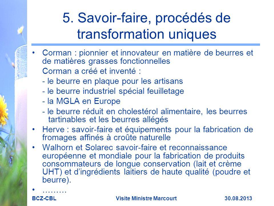 5. Savoir-faire, procédés de transformation uniques Corman : pionnier et innovateur en matière de beurres et de matières grasses fonctionnelles Corman
