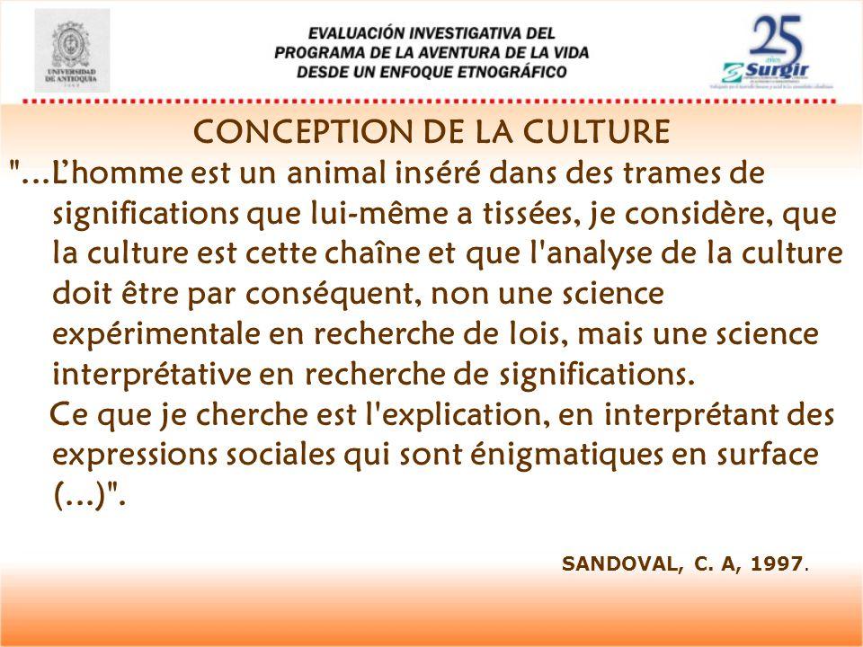 CONCEPTION DE LA CULTURE