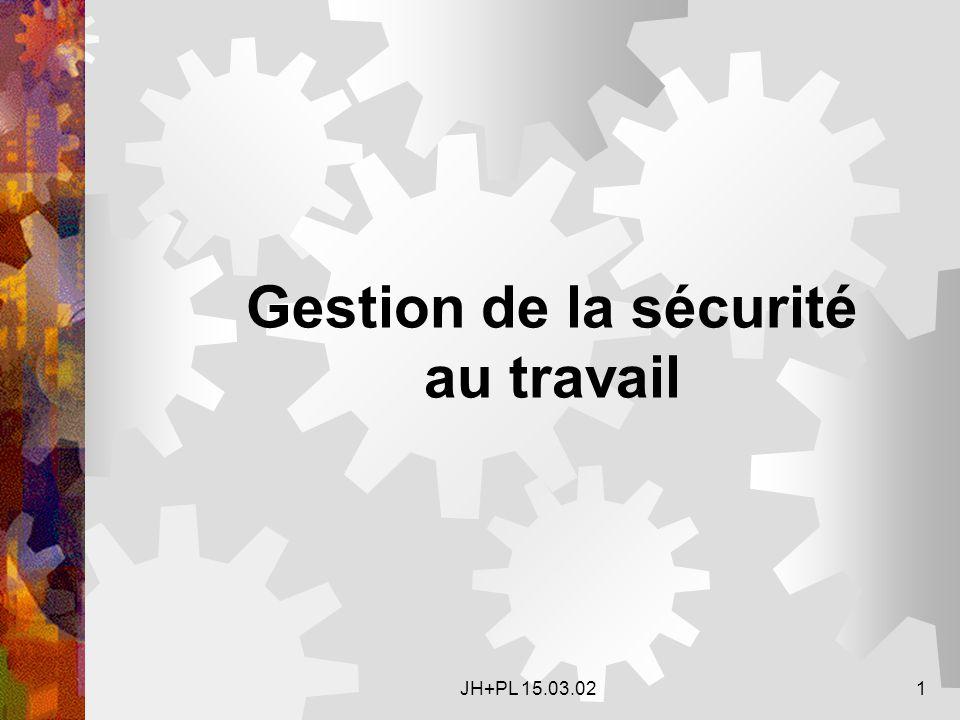 JH+PL 15.03.021 Gestion de la sécurité au travail
