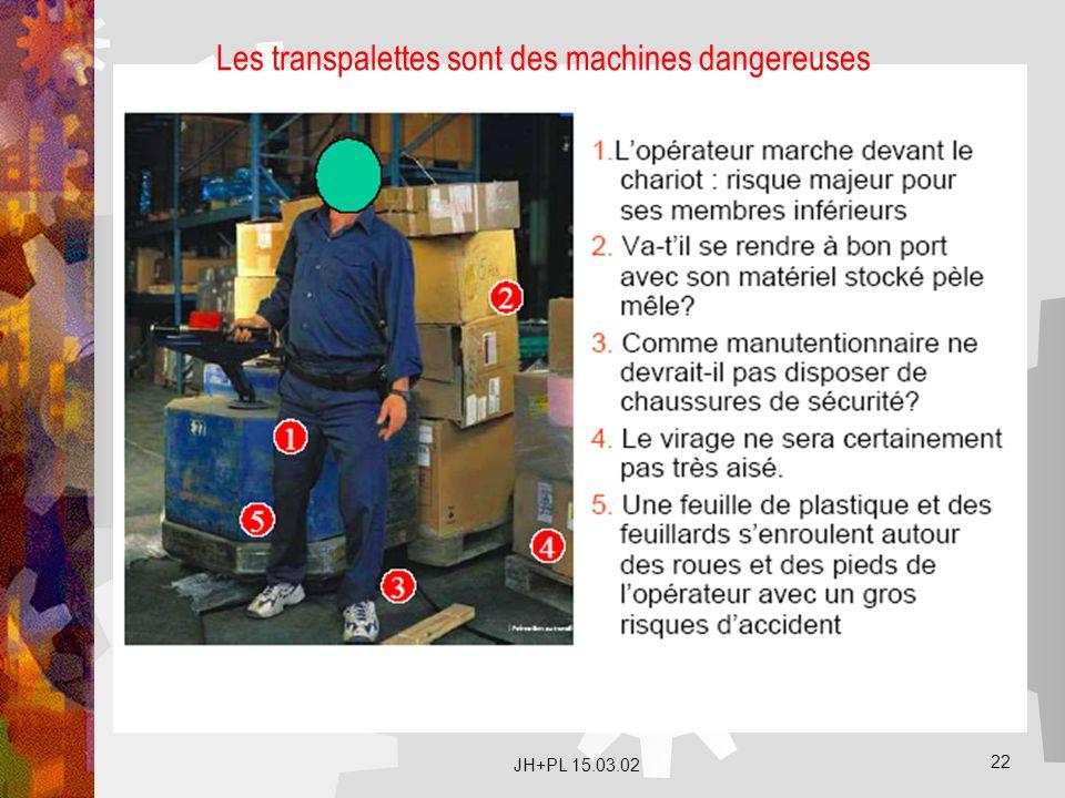 JH+PL 15.03.02 22 Les transpalettes sont des machines dangereuses