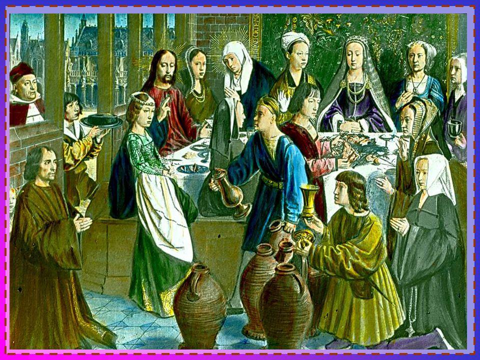 (Ce texte symbolise les quatre appels à aimer que nous adresse Jésus) Famille : Il y eut une noce à Gana en Galilée et la mère de Jésus était là. Jésu