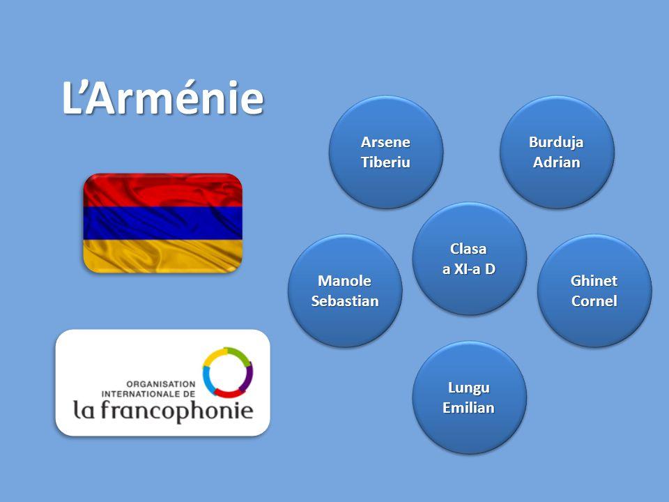 L'Arménie Clasa a XI-a D Clasa Arsene Tiberiu Ghinet Cornel Lungu Emilian Manole Sebastian Burduja Adrian
