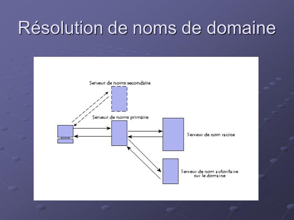 Résolution de noms de domaine