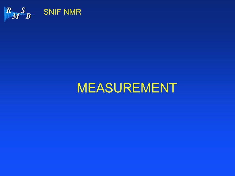 R M S B SNIF NMR MEASUREMENT