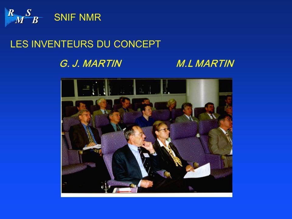 R M S B LES INVENTEURS DU CONCEPT SNIF NMR G. J. MARTINM.L MARTIN