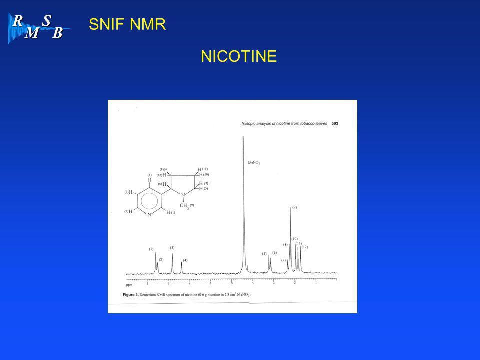R M S B NICOTINE SNIF NMR