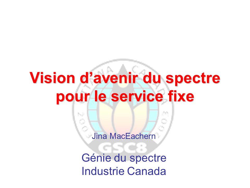 Vision d'avenir du spectre pour le service fixe Jina MacEachern Génie du spectre Industrie Canada