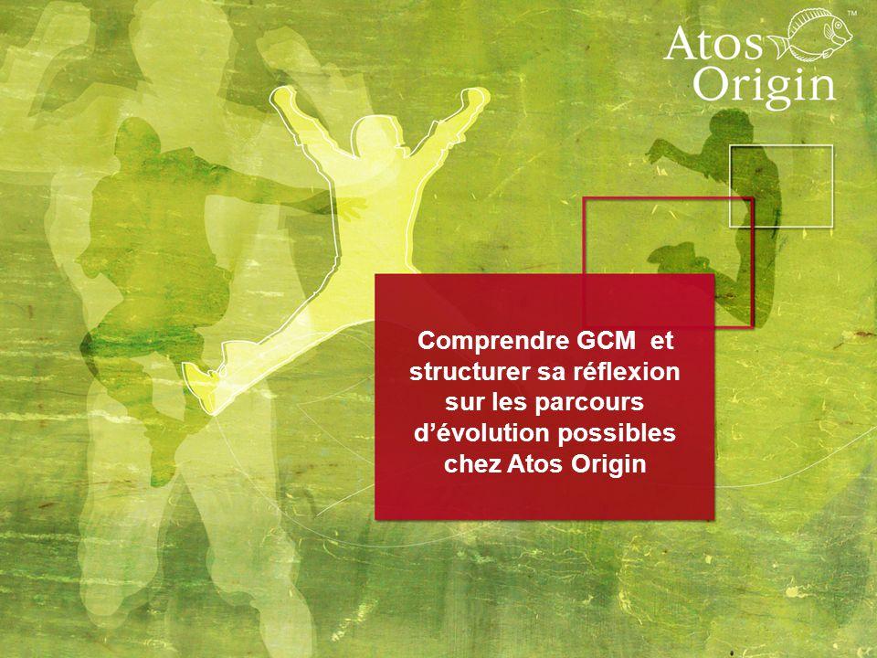 1 Comprendre GCM et structurer sa réflexion sur les parcours d'évolution possibles chez Atos Origin