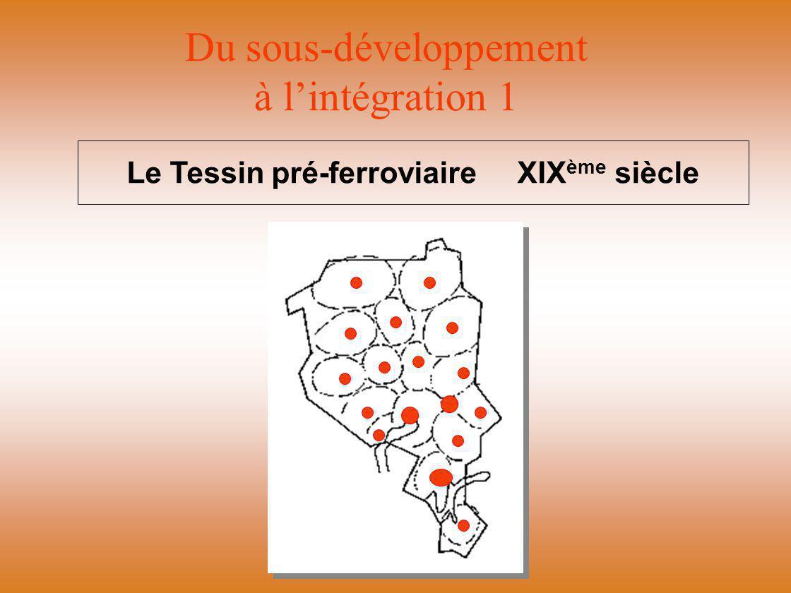 Du sous-développement à l'intégration 1 Le Tessin pré-ferroviaire XIX ème siècle