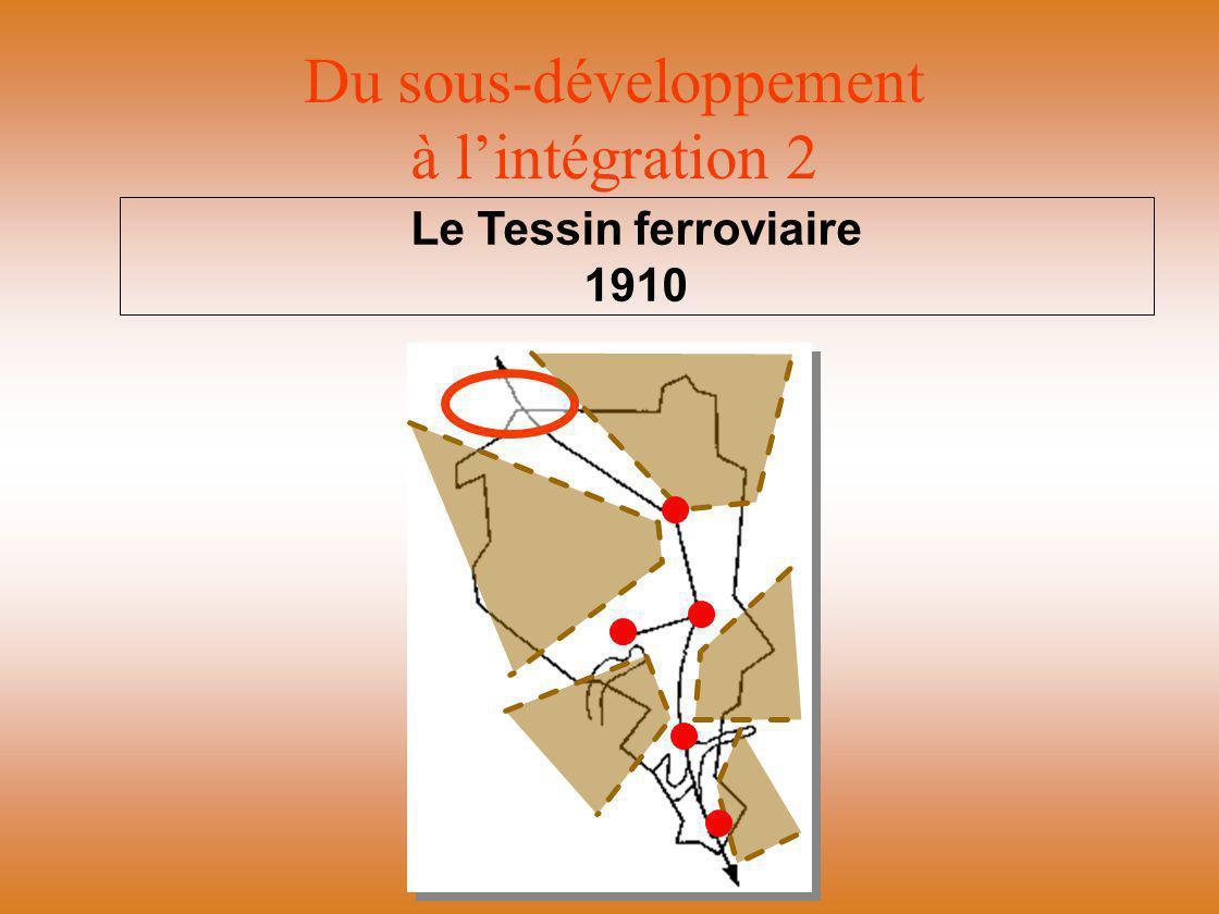 Du sous-développement à l'intégration 2 Le Tessin ferroviaire 1910
