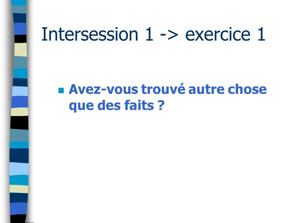 Inter session 2 -> exercice 1 n Les Groupes modéliseront et analyseront UNE situation de travail dangereuse réelle à l'ENIT.
