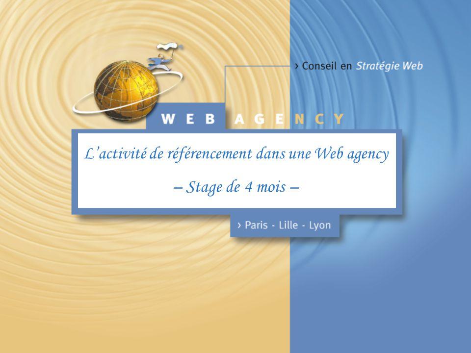L'activité de référencement dans une Web agency – Stage de 4 mois –