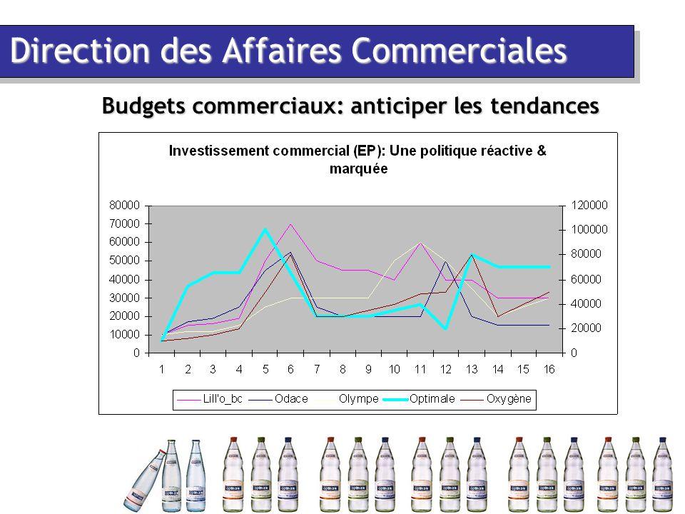 Direction des Affaires Commerciales Budgets commerciaux: anticiper les tendances