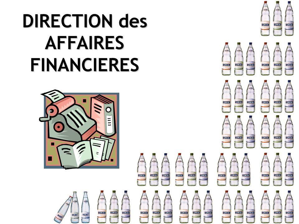 DIRECTION des AFFAIRESFINANCIERES
