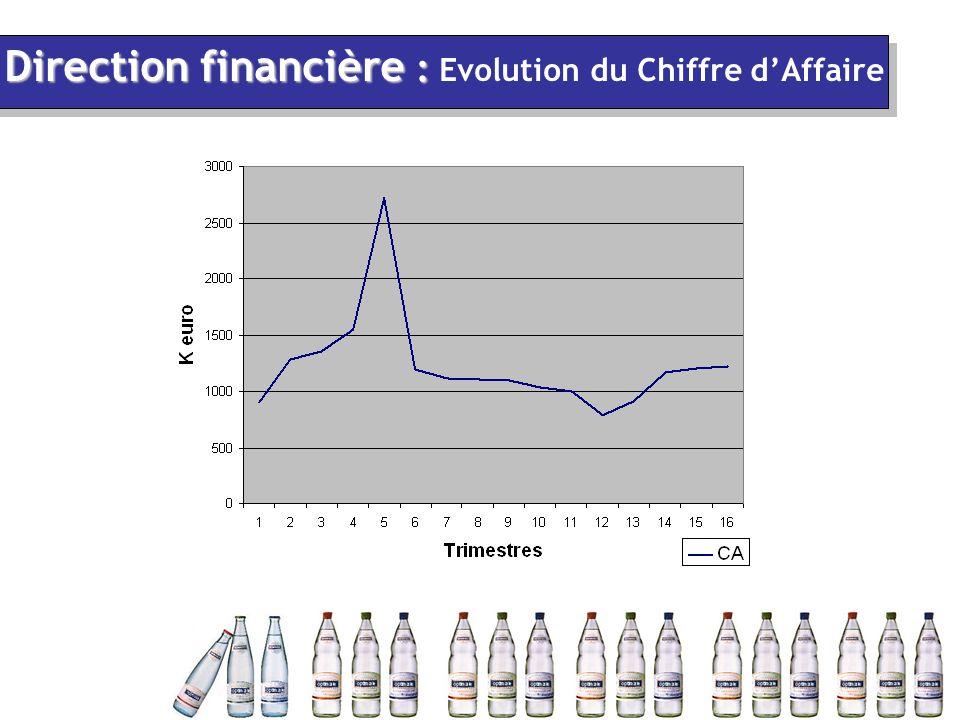 Direction financière : Direction financière : Evolution du Chiffre d'Affaire