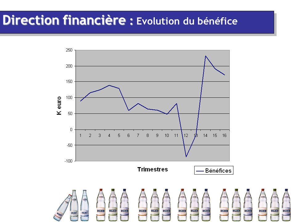Direction financière : Direction financière : Evolution du bénéfice